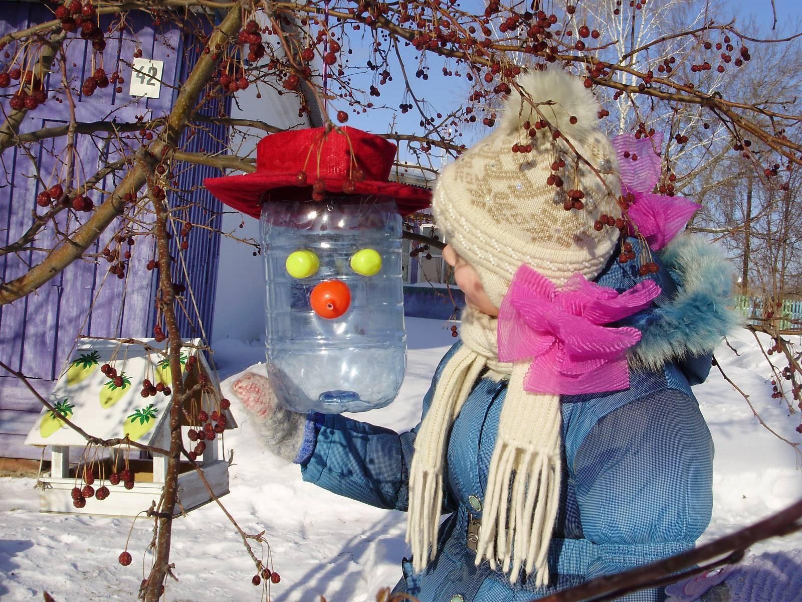 Как сделать зимнюю кормушку своими руками